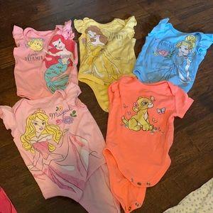 6 Disney princess onesies set 👑